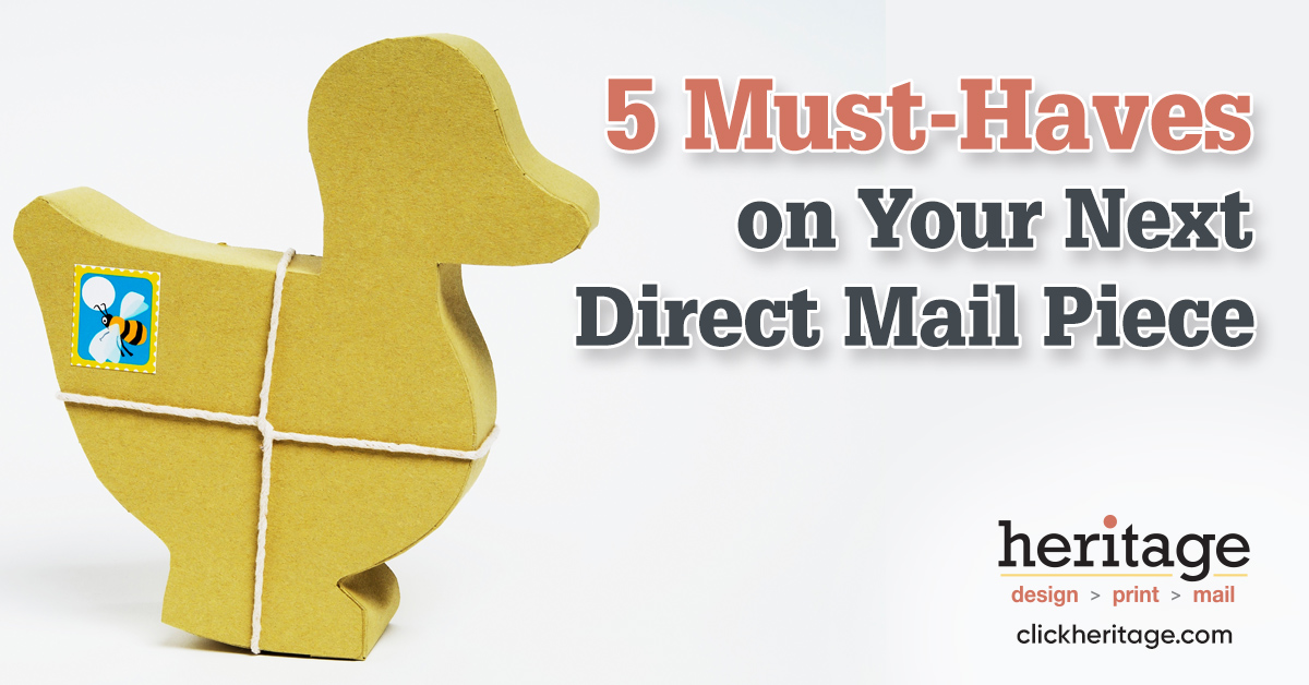 5 must haves on your next direct mail piece