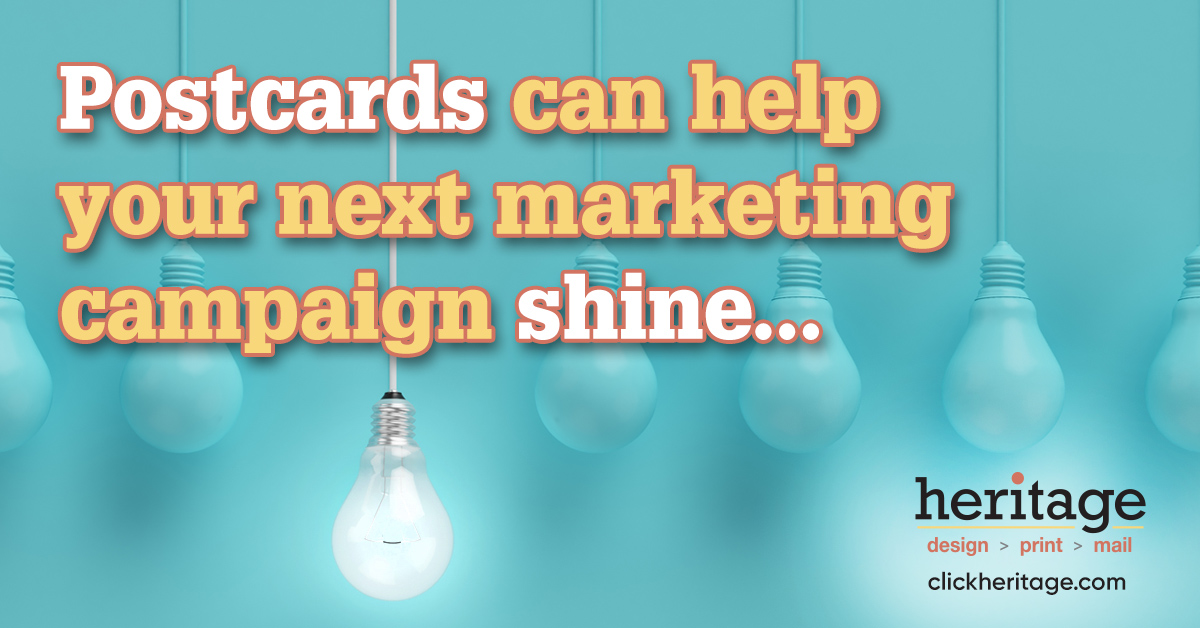 Postcards can help your next marketing campaign shine