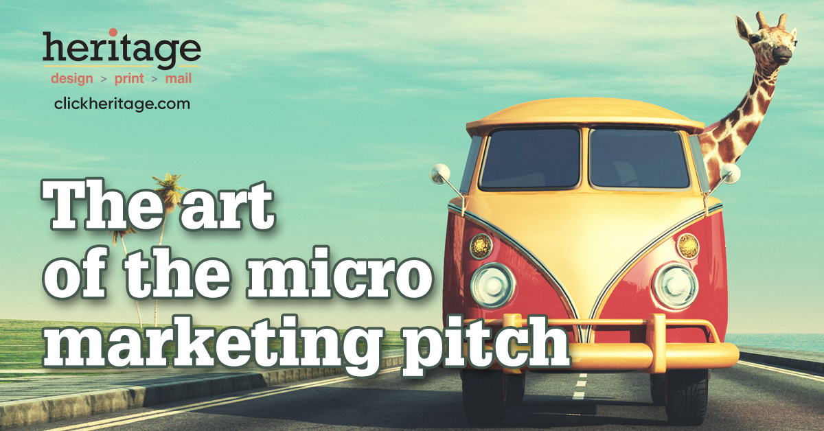 The art of the micro marketing pitch