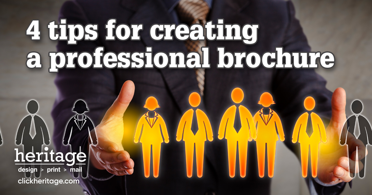 4 tips for creating a professional brochure