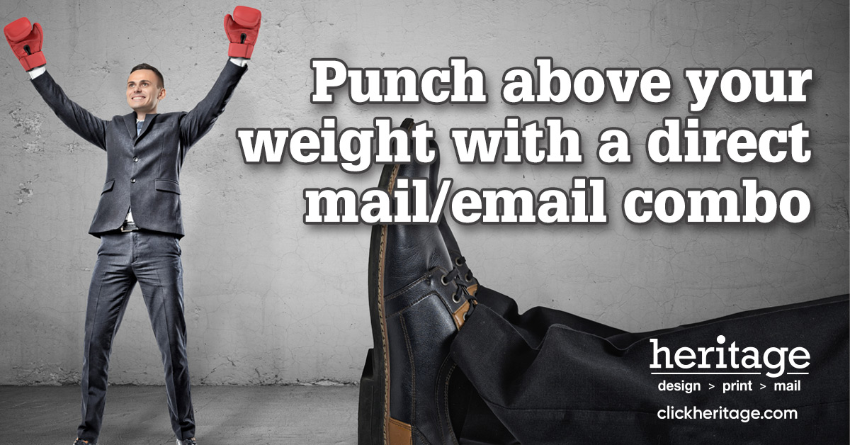 Punch above your weight with a direct mail/email combo