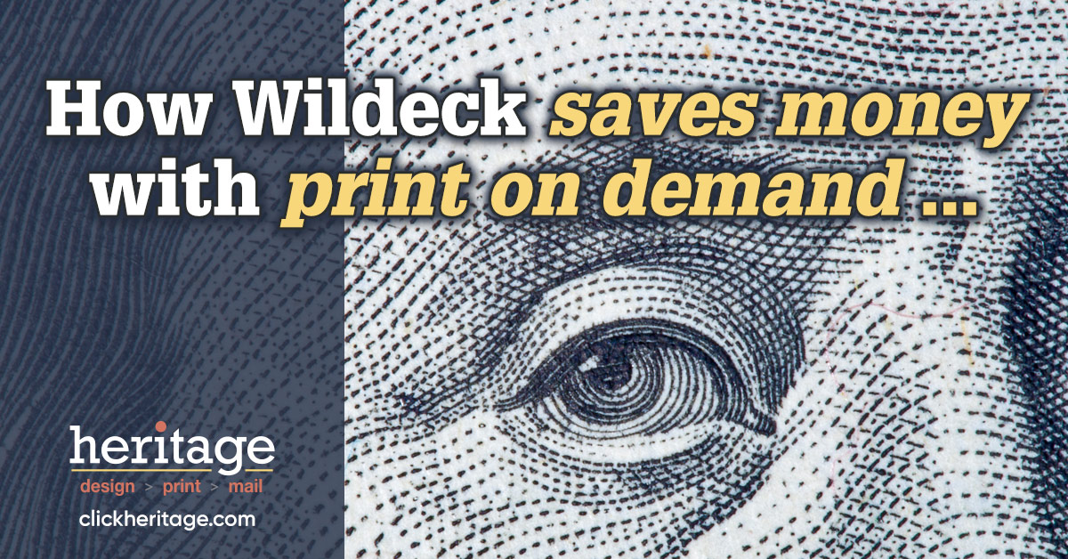 How Wildeck saves money with print on demand