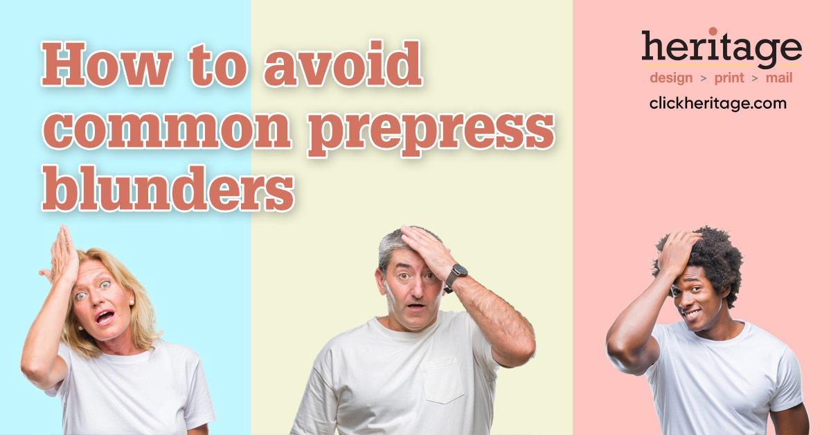 How to avoid common prepress blunders