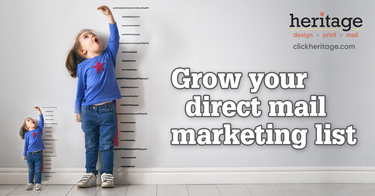 Grow your direct marketing mail list