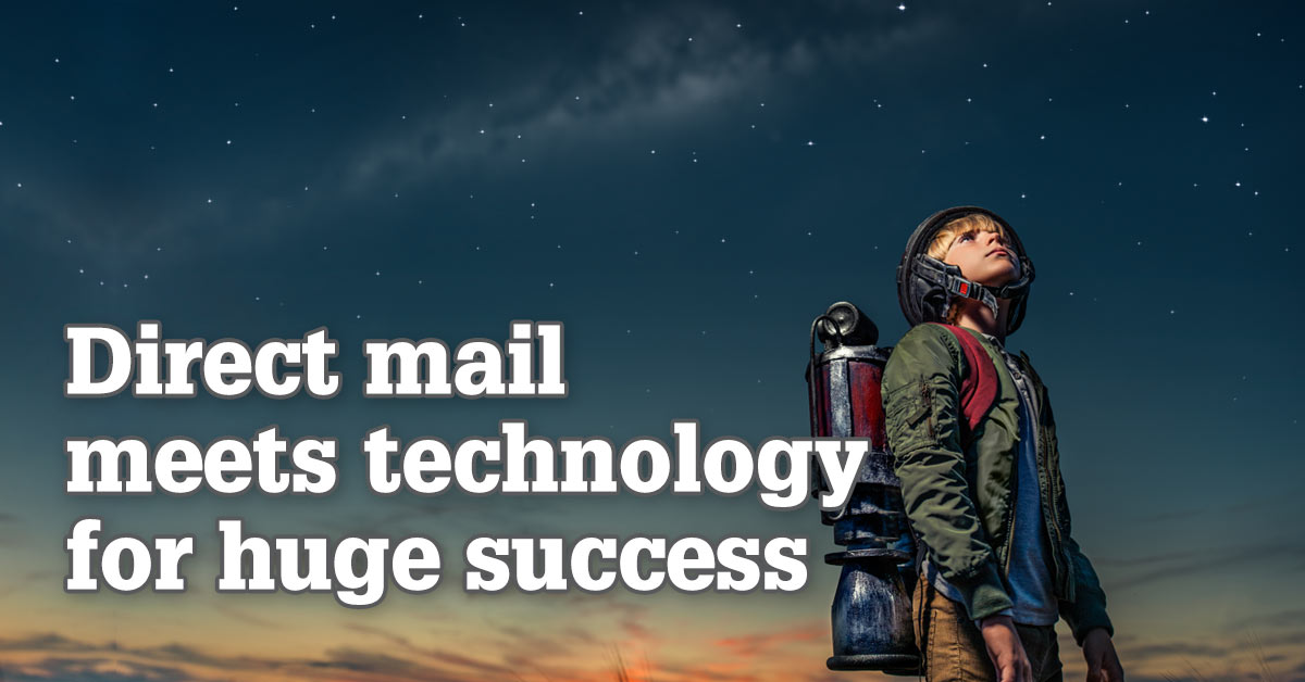 Direct mail meets technology for huge success